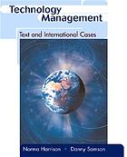 Technology management : text and international cases
