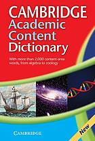 Cambridge academic content dictionary.