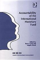 Accountability of the International Monetary Fund