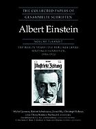 The collected papers of Albert Einstein. 7, The Berlin years. writings, 1918-1921
