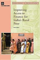 Improving Access to Finance for India's Rural Poor.