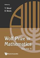 Wolf Prize in mathematics. Volume 4