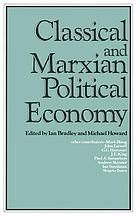 Classical and Marxian political economy : essays in honour of Ronald L. Meek