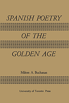 Spanish poetry of the golden age,