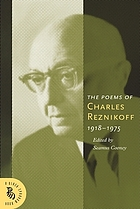 The poems of Charles Reznikoff : 1918-1975