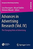 Advances in advertising research. / (Vol. IV), The changing roles of advertising