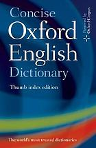 Concise Oxford English dictionary.