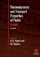 Thermodynamic and transport properties of fluids : SI units.