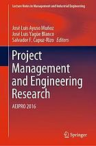 Project management and engineering research : AEIPRO 2016