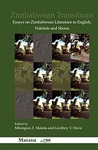 Zimbabwean transitions : essays on Zimbabwean literature in English, Ndebele and Shona