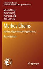 Markov chains : models, algorithms and applications