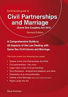 Civil partnerships and (same sex) marriage
