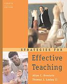 Strategies for effective teaching