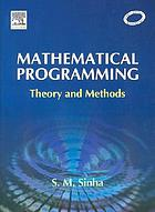 Mathematical programming : theory and methods
