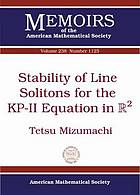 Stability of line solitons for the KP-II equation in R²