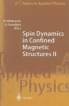 Spin dynamics in confined magnetic structures.