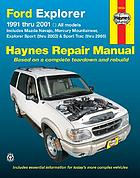 Ford Explorer, Mazda Navajo, Mercury Mountaineer & Explorer sport/ sport trac automotive repair manual