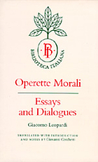 Operette morali : essays and dialogues