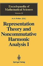 Representation theory and noncommutative harmonic analysis. : Representations of Virasoro and affine algebras / 1 Fundamental concepts.