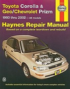 Toyota Corolla & Geo/Chevrolet Prizm automotive repair manual