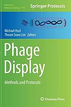 Phage display : methods and protocols
