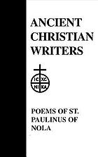 The poems of St. Paulinus of Nola