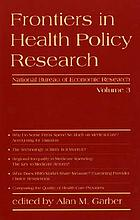 Frontiers in health policy research 31