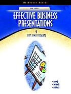 Effective business presentations
