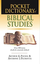 Pocket dictionary of biblical studies
