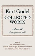 Collected works / 4 Correspondence A-G.