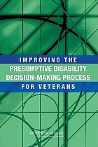 Improving the presumptive disability decision-making process for veterans