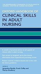 Oxford handbook of clinical skills in adult nursing