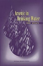 Arsenic in drinking water : 2001 update