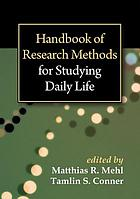 Handbook of research methods for studying daily life