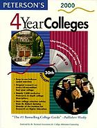 Peterson's 4 year colleges, 2000 : the best advice, the best tools, the right guide.