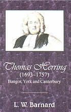 Thomas Herring (1693-1757) : Bangor, York and Canterbury