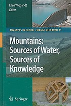Mountains : sources of water, sources of knowledge