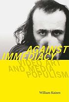 Against immediacy : video art and media populism