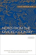 Notes from the divided country : poems