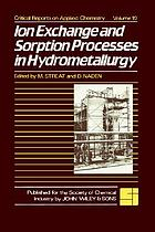 Ion exchange and sorption processes in hydrometallurgy