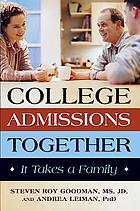 College admissions together : it takes a family