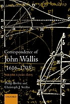 The correspondence of John Wallis. Volume II. 1660-September 1668