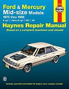Ford & Mercury mid-size models automotive repair manual