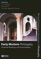Early modern philosophy : essential readings with commentary