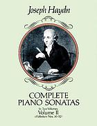 Complete piano sonatas : in two volumes