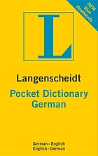 Langenscheidt pocket German dictionary : German-English, English-German.