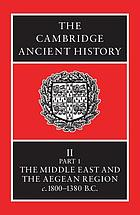 History of the Middle East and the Aegean region, c. 1800-1380 B.C.