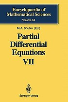 Partial differential equations. / VII, Spectral theory of differential operators