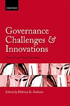 Governance challenges and innovations : financial and fiscal governance