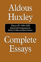 Complete essays Vol. 4 1936 - 1938